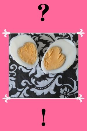 surprise heart inside egg