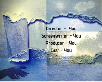 "Torn paper revealing what you create with inscription ""Director - You, Screenwriters - You, Producer - You, Cast - You"""