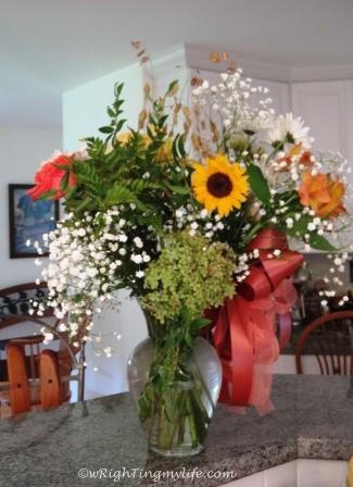 I've Got Sunshine Bouquest of Sunflowers, Hydrangea, Lilies, Daisies and Baby's Breath