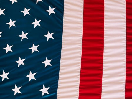 Stars and stripes of American flag