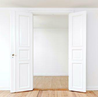 Wide open doors