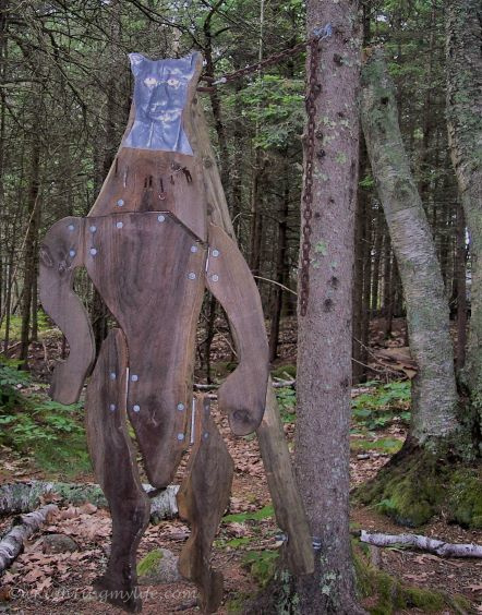 Brown Forest Sculpture