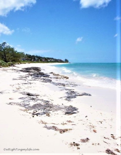 White sand and turquoise waters