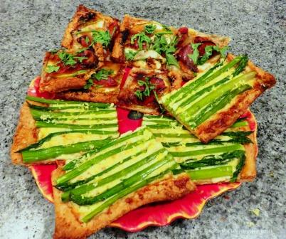 Prosciutto and Apple Tart, and Asparagus Tart