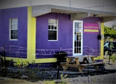Purple building in Anegada, BVI