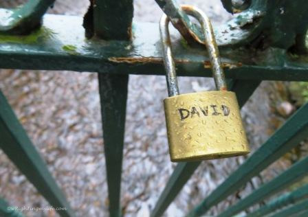 raindrop on lock