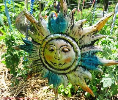 Garden Sunface in Metal